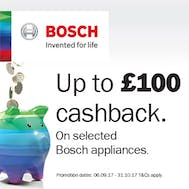 Up To £100 Cashback with Bosch!