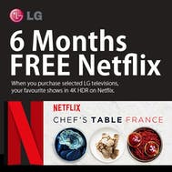 6 Months FREE Netflix With LG!