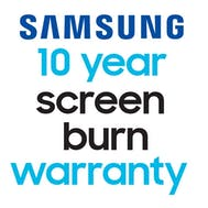 10 year Samsung Screen Burn Warranty!