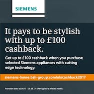 Up To £100 Cashback From Siemens!