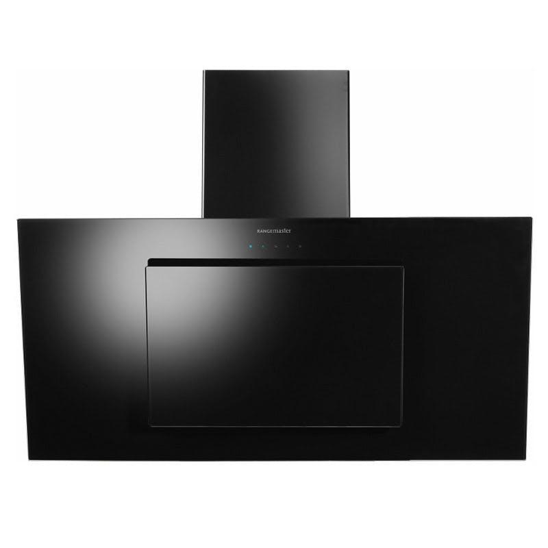 Rangemaster 103270 100cm Opal Touch Control Chimney Hood Black