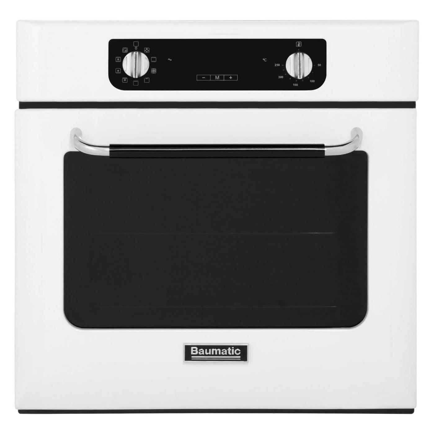 baumatic bor600w 60cm retro electric fan oven in white