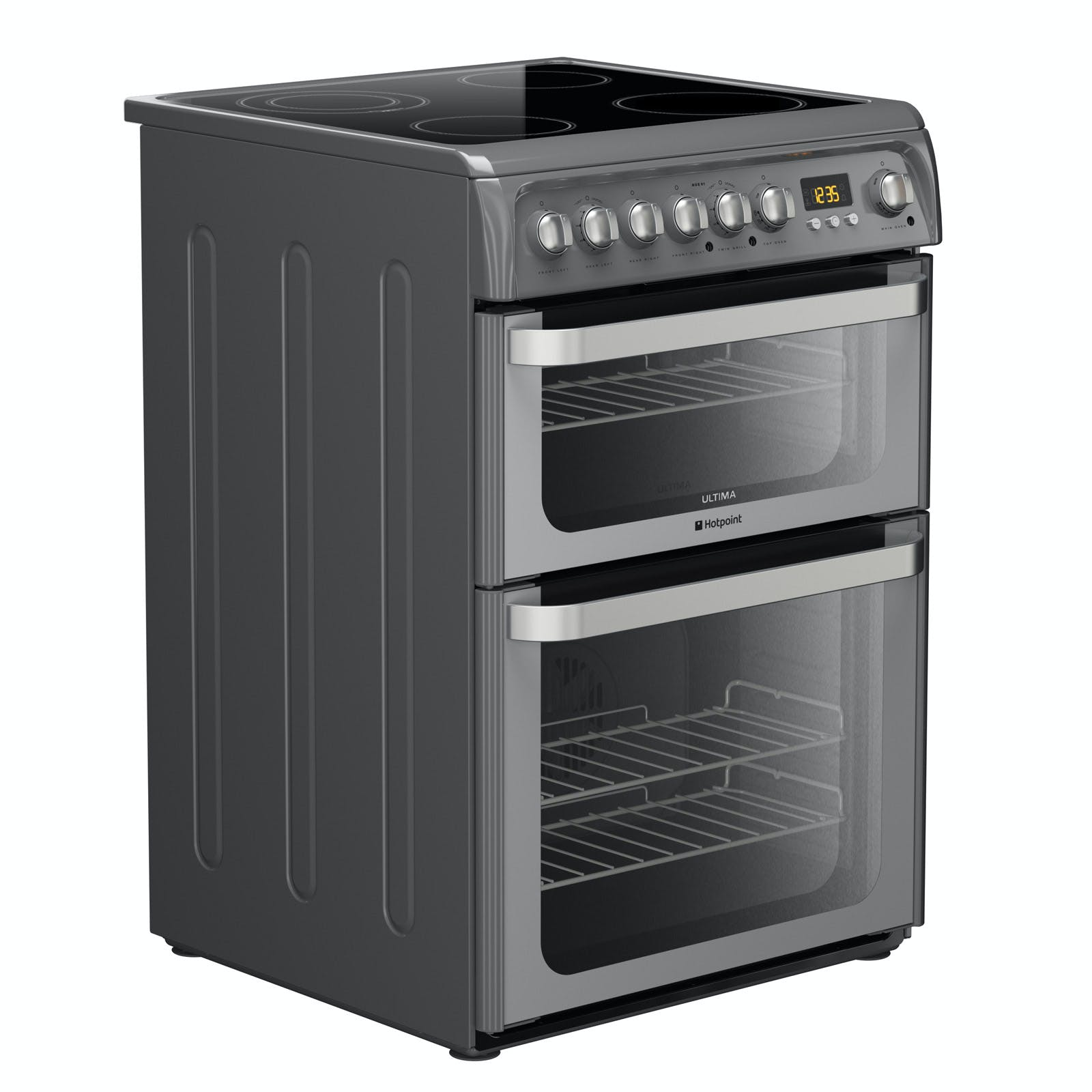 Hotpoint Hue61gs 60cm Ultima Electric Cooker In Graphite