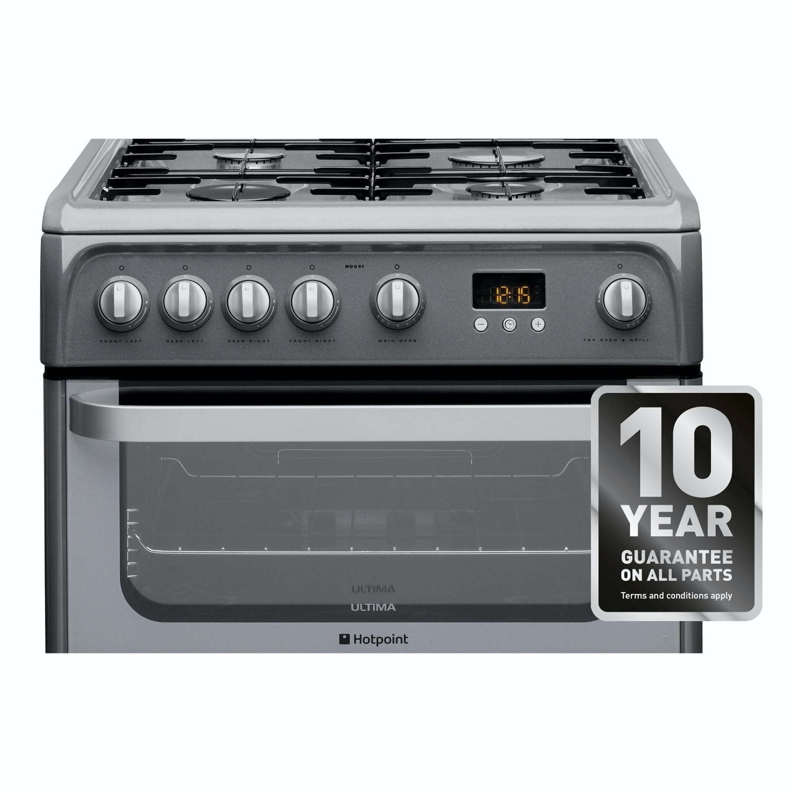 Hotpoint Hag60k 60cm Double Oven Gas Cooker Hotpoint Gas