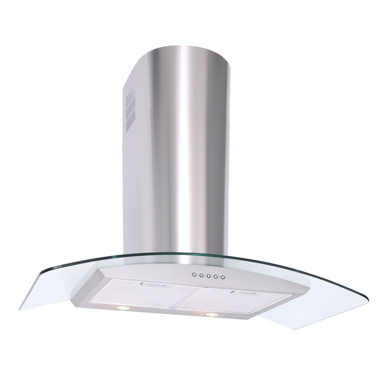 Cooker Hood With A Window ~ Luxair la cvd ss cm curved glass cooker hood in