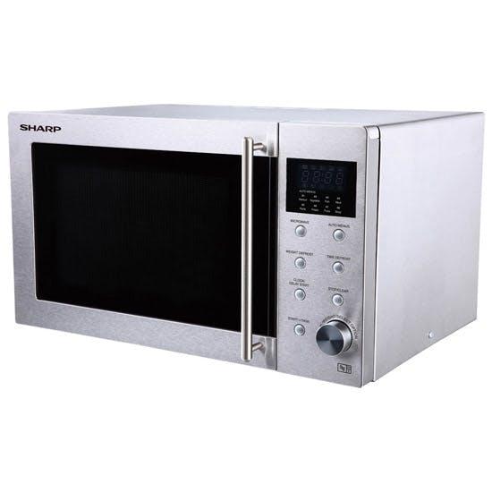 sharp r28stm microwave oven in stainless steel 800w 23l. Black Bedroom Furniture Sets. Home Design Ideas