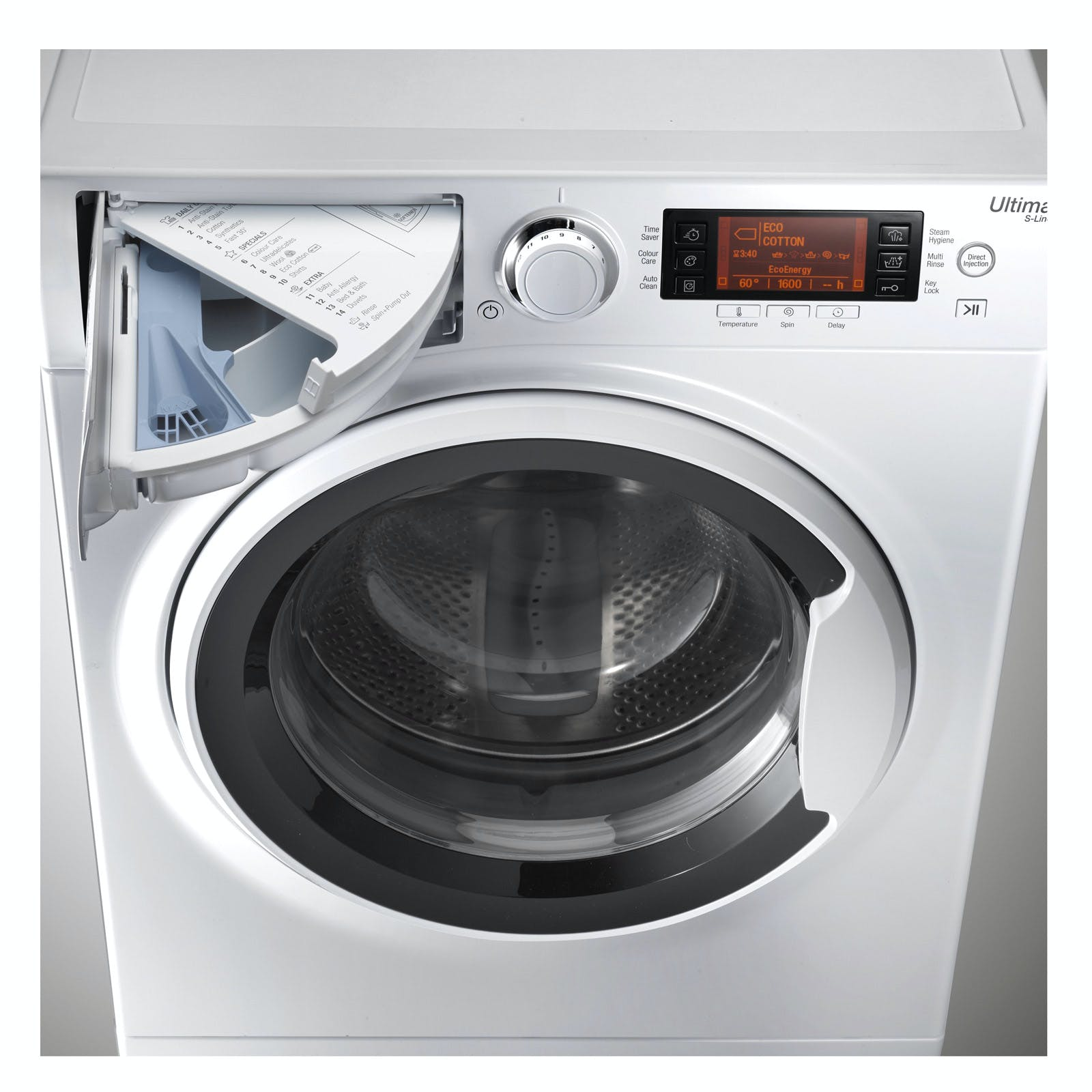 hotpoint rpd9467j ultima s washing machine in white. Black Bedroom Furniture Sets. Home Design Ideas