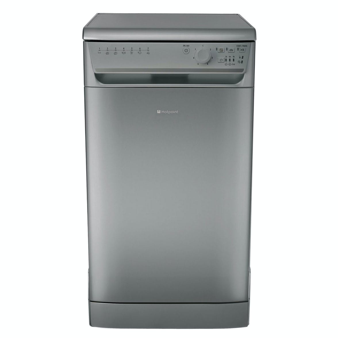 hotpoint sial11010g 45cm aquarius slimline dishwasher in graphite a aa. Black Bedroom Furniture Sets. Home Design Ideas