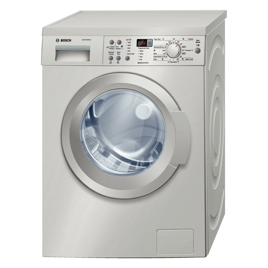 Bosch Quantum Speed Microwave Combination Oven: Bosch WAQ2836SGB Serie-4 Washing Machine In St/Steel