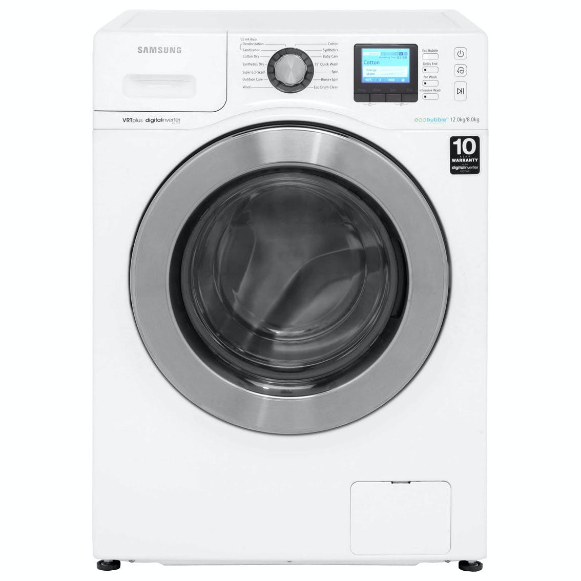samsung wd12f9c9u4w eco bubble washer dryer in white. Black Bedroom Furniture Sets. Home Design Ideas