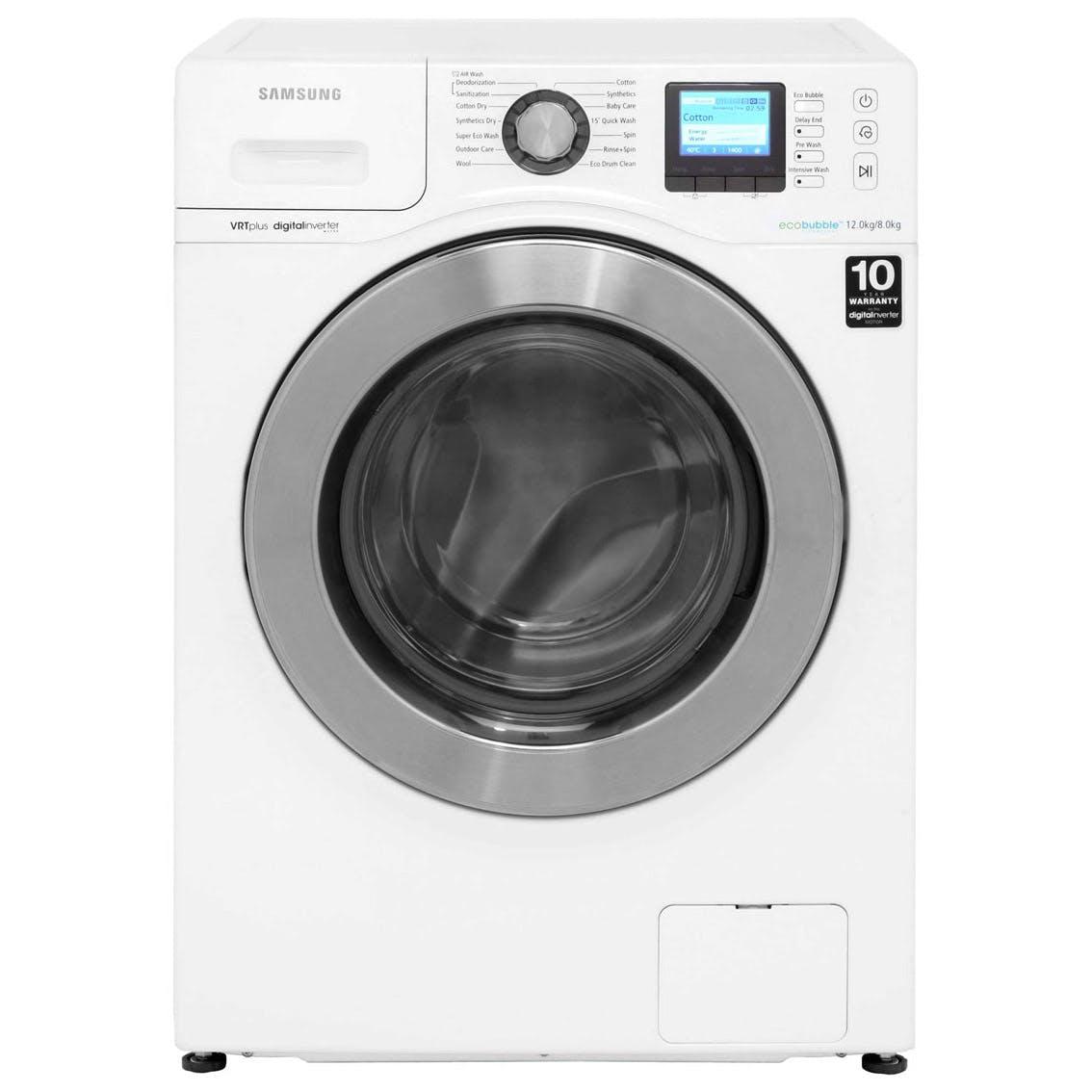 samsung wd12f9c9u4w eco bubble washer dryer in white. Black Bedroom Furniture Sets. Home Design Ideas