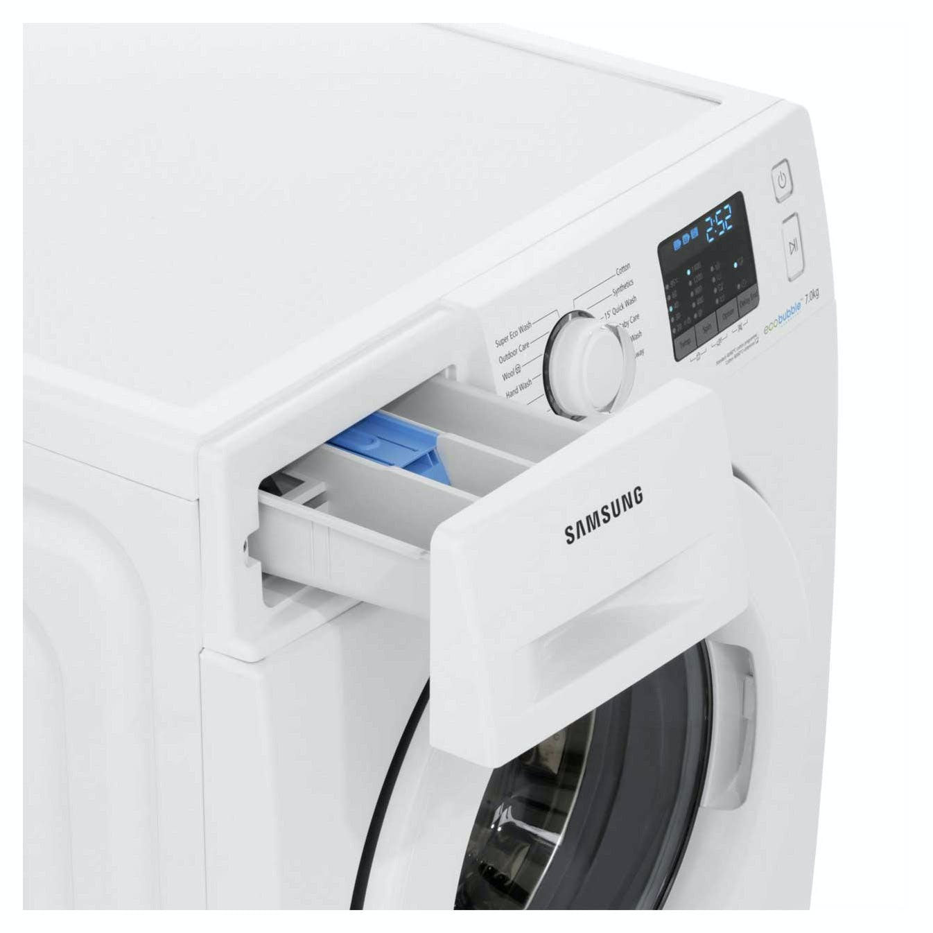 samsung wf70f5e0w4w eco bubble washing machine in white 1400rpm 7kg a. Black Bedroom Furniture Sets. Home Design Ideas