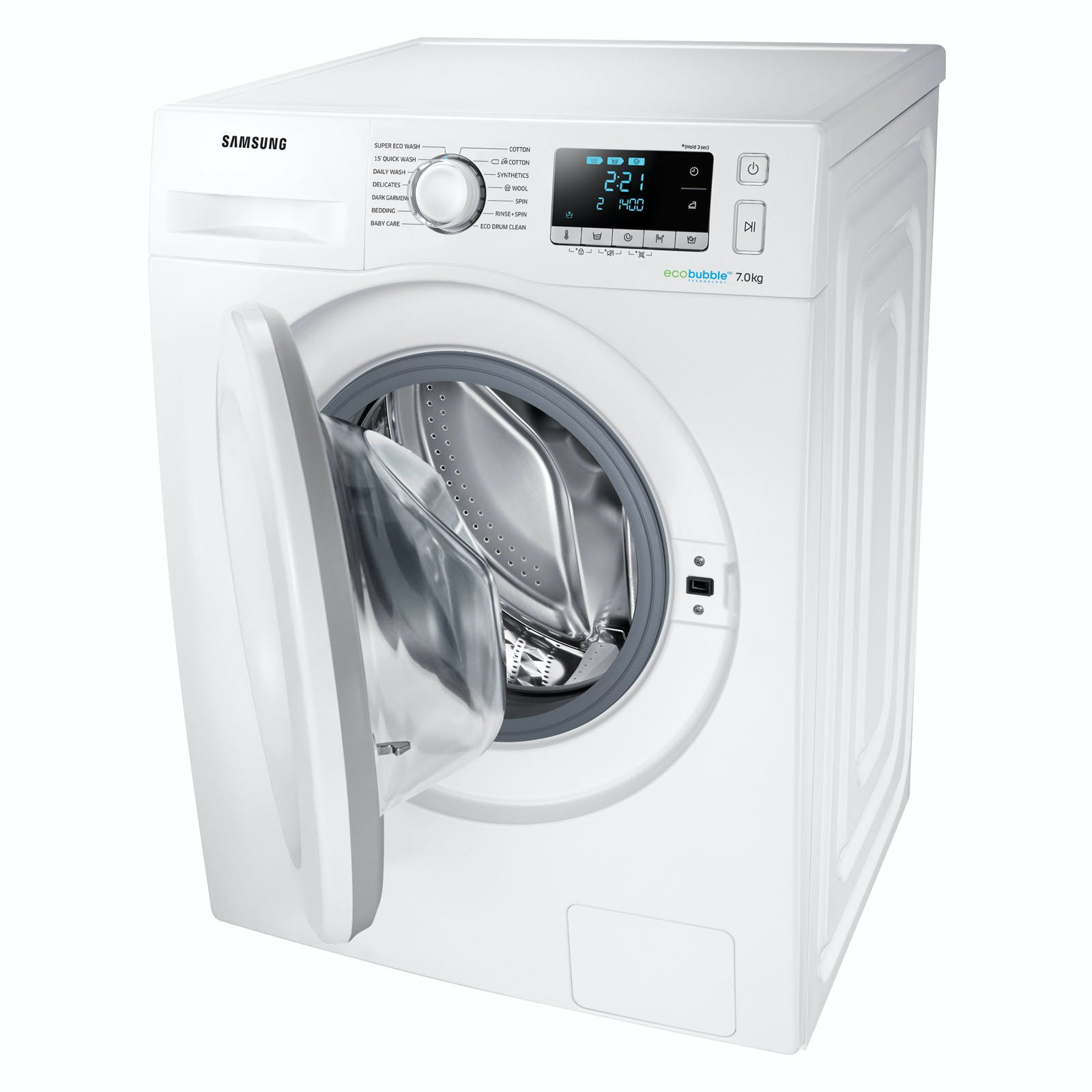 samsung ww70j5556mw eco bubble washing machine in white. Black Bedroom Furniture Sets. Home Design Ideas
