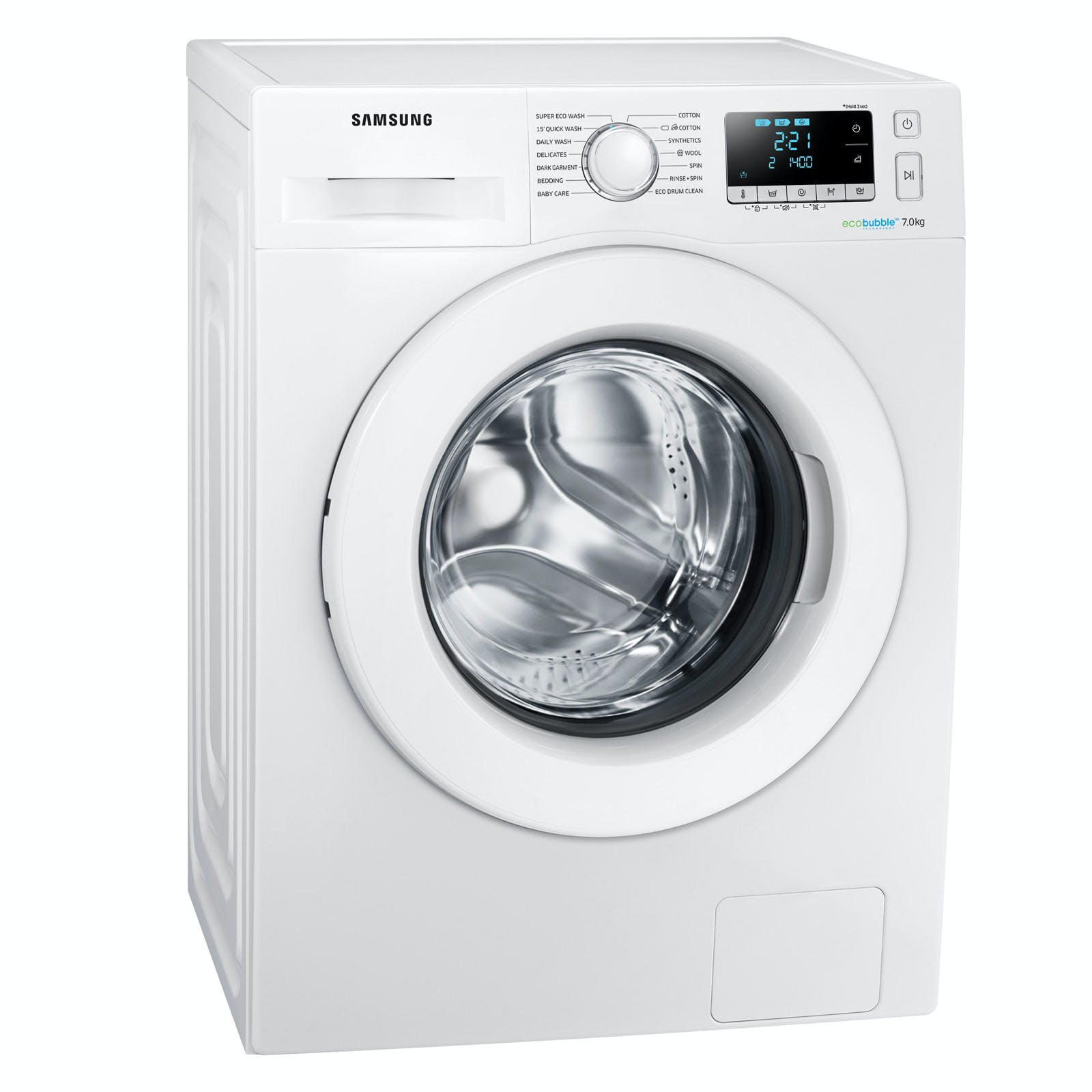 samsung ww70j5556mw eco bubble washing machine in white 1400rpm 7kg a. Black Bedroom Furniture Sets. Home Design Ideas